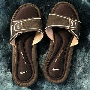 Nike slides, sandals, slip ons, Black